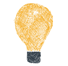 Light bulb icon stands for understanding